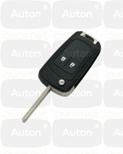 Kaukolukitusavain Opel/Chevrolet 2-nappia (Keyless Go, 433Mhz)