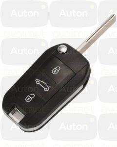 Peugeot/Citroen avaimen kuori 3-nappia HU83
