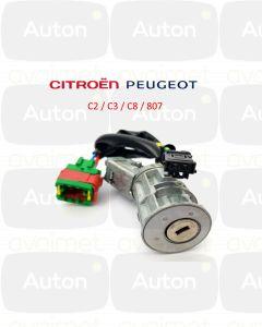Citroën/Peugeot C2/C3/C8/807 virtalukon korjaus (avain ei käänny)